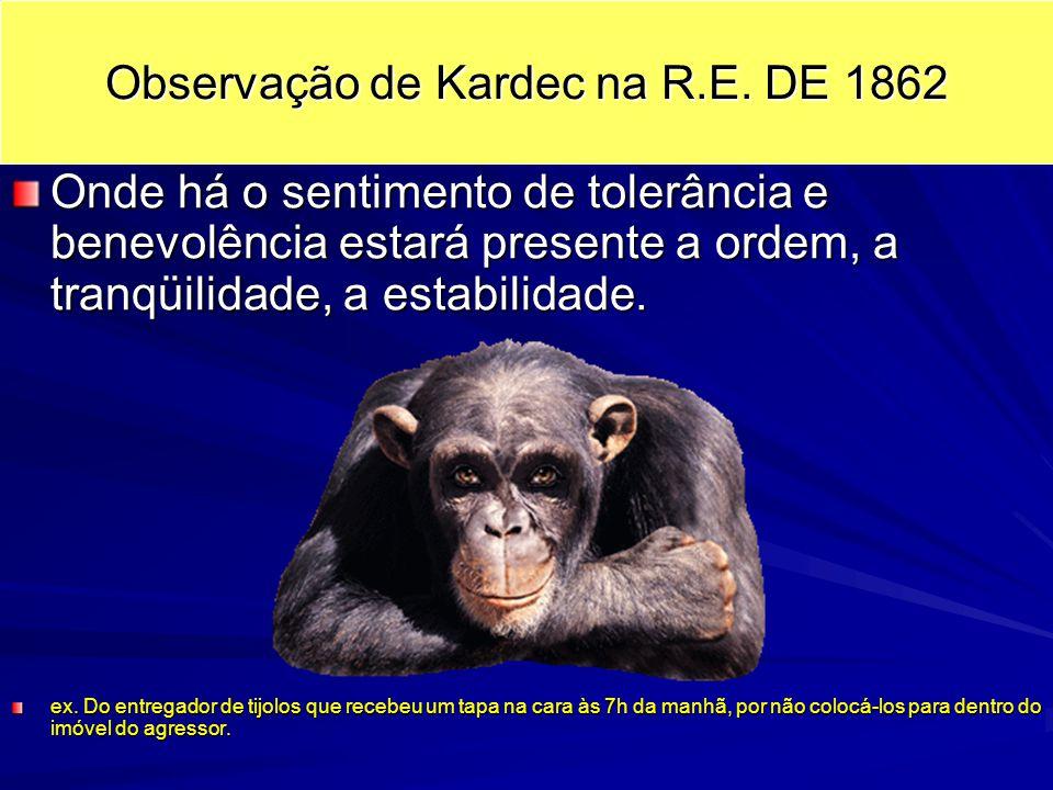 Observação de Kardec na R.E.