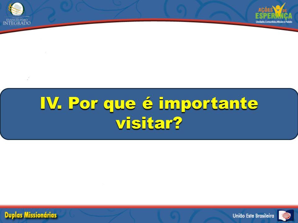 IV. Por que é importante visitar?