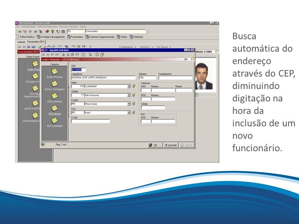 Mix Relatórios exportados em html Os relatórios principais da folha também podem ser exportados para HTML E disponibilizados em navegadores da internet.
