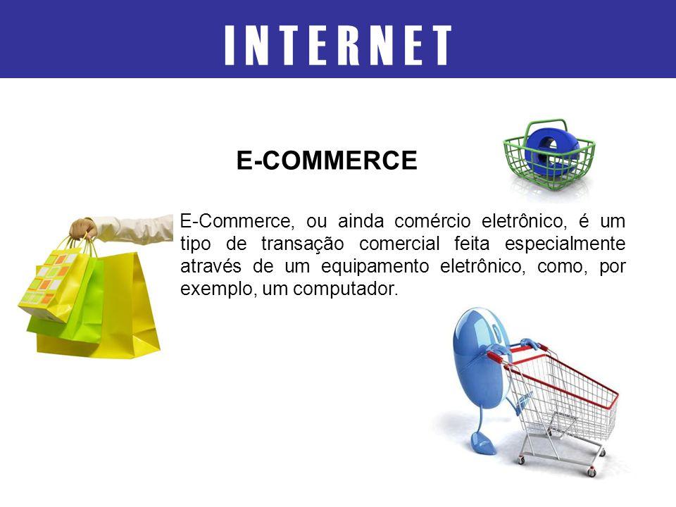 E-Commerce, ou ainda comércio eletrônico, é um tipo de transação comercial feita especialmente através de um equipamento eletrônico, como, por exemplo