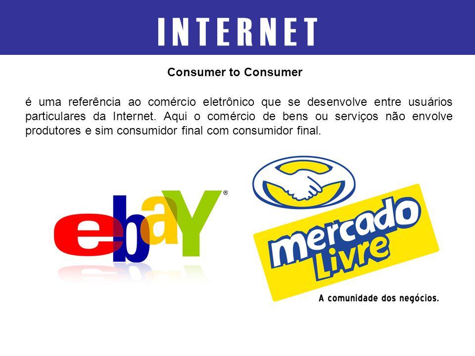 é uma referência ao comércio eletrônico que se desenvolve entre usuários particulares da Internet. Aqui o comércio de bens ou serviços não envolve pro