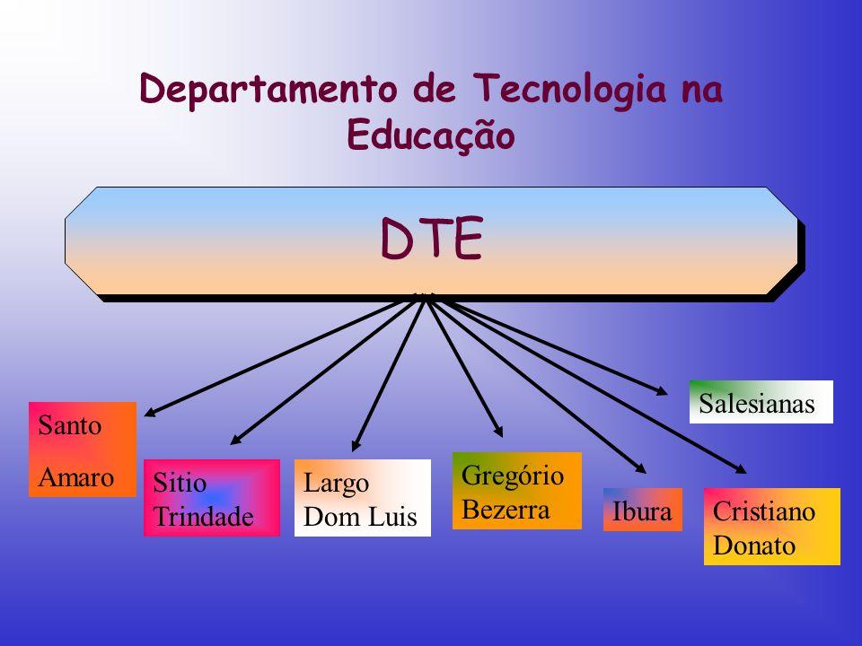 Departamento de Tecnologia na Educação DTE Santo Amaro Sitio Trindade Largo Dom Luis Gregório Bezerra IburaCristiano Donato Salesianas