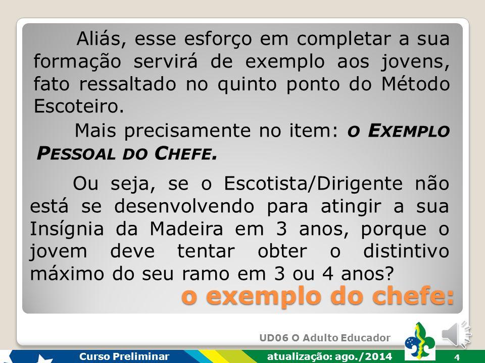 UD06 O Adulto Educador Curso Preliminar atualização: ago./2014 14 resumindo...