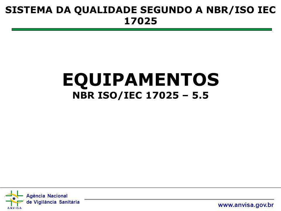 Agência Nacional de Vigilância Sanitária www.anvisa.gov.br Uma lista de medidas para reduzir contaminação deve ser fornecida ao pessoal que trabalha no equipamento.