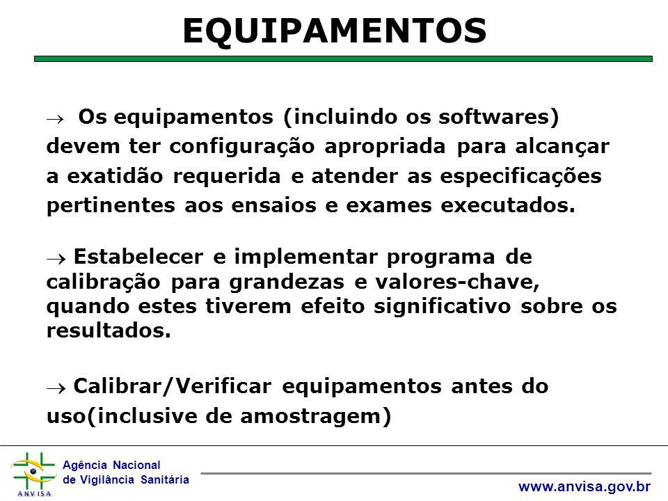 Agência Nacional de Vigilância Sanitária www.anvisa.gov.br  Quando forem necessárias verificações intermediárias para a manutenção da confiança no status da calibração, estas verificações devem ser feitas de acordo com um procedimento definido.