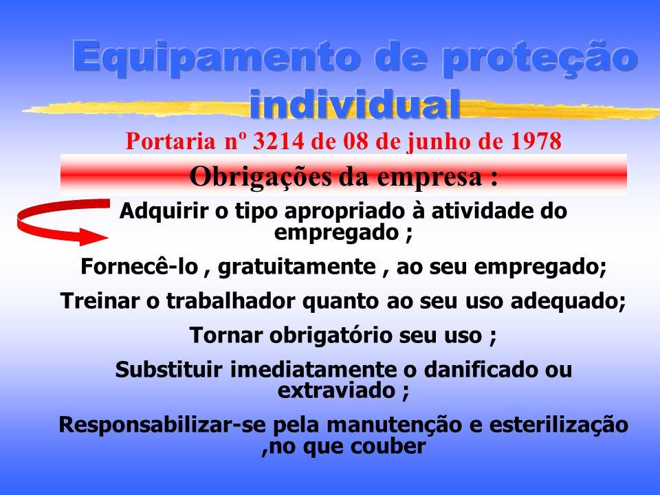 Fornecimento de E.P.I Medidas de proteção coletiva inviáveis ou em implantação Em situação de emergência