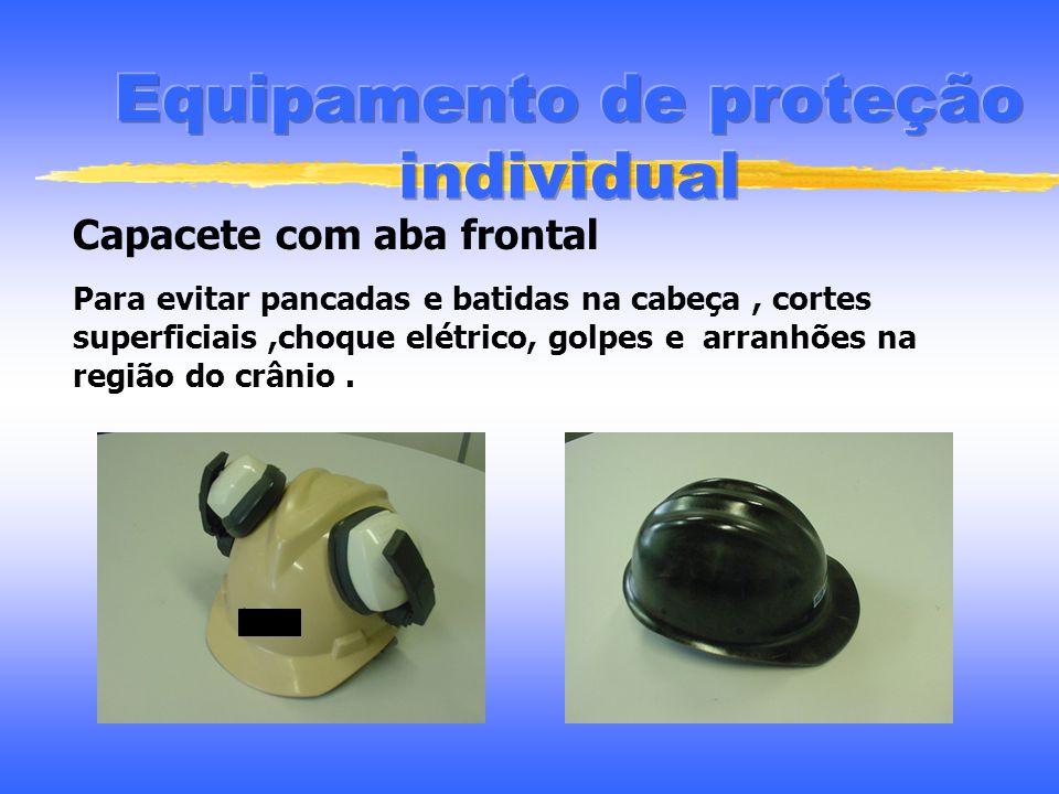 Considerações na seleção do E.P.I Grau de proteção Facilidade para uso Necessidade de usá-lo junto com outro Riscos - cada trabalho um E.P.I Condições