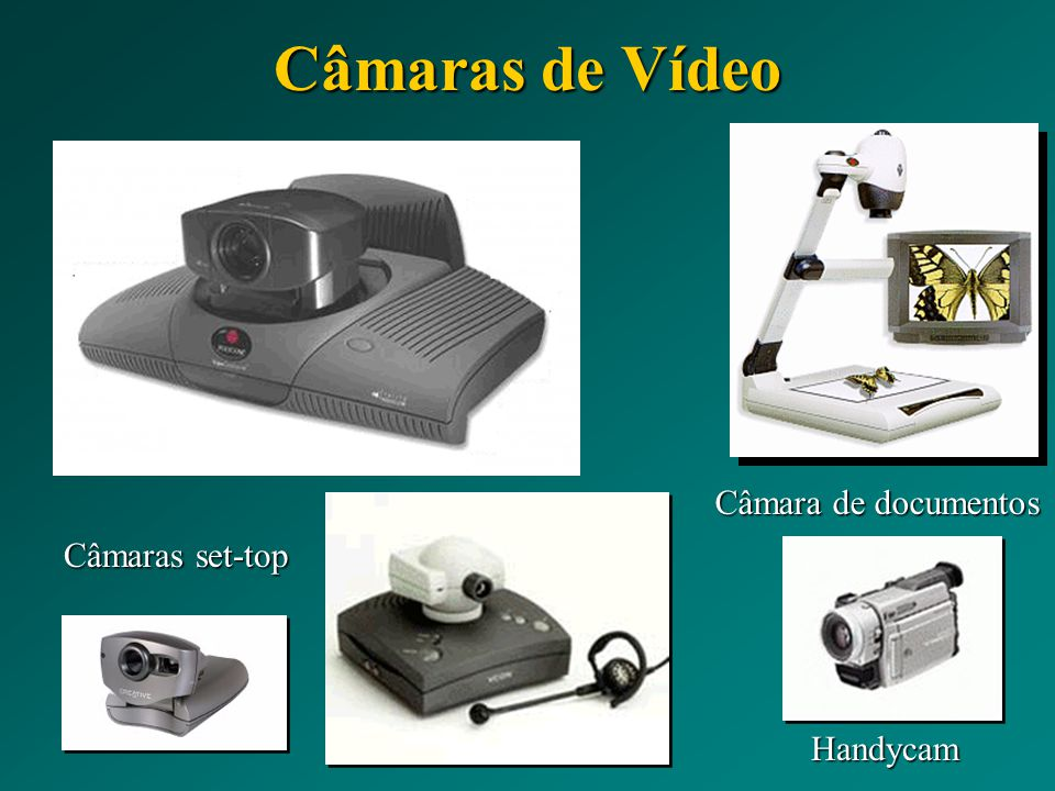 Câmaras de Vídeo Câmara de documentos Câmaras set-top Handycam