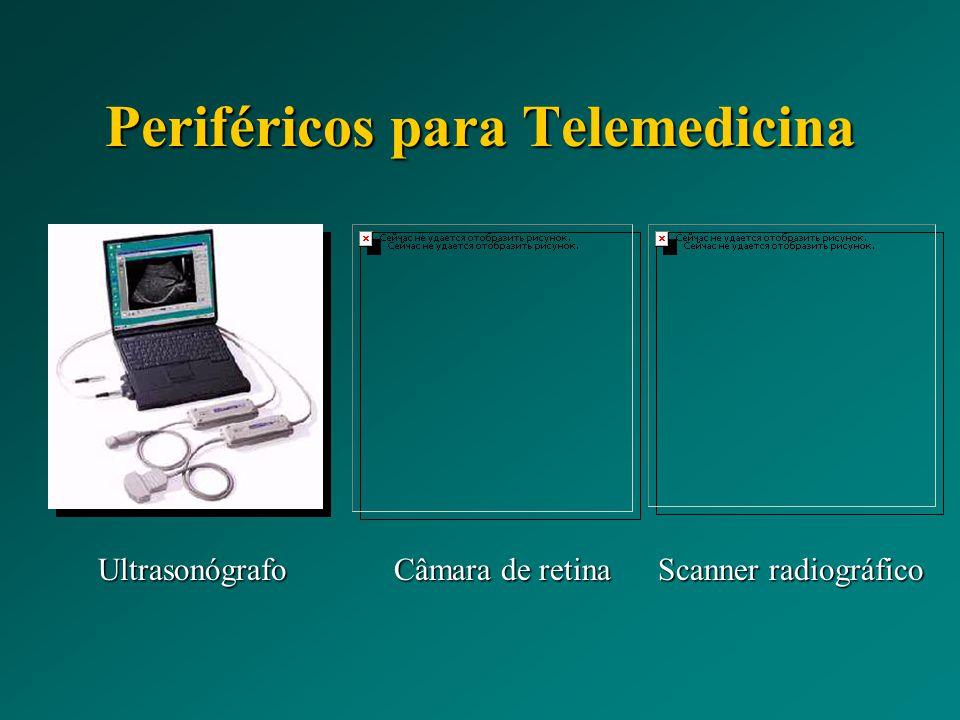 Periféricos para Telemedicina Ultrasonógrafo Câmara de retina Scanner radiográfico