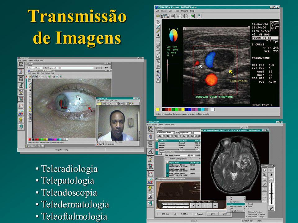 Teleradiologia Teleradiologia Telepatologia Telepatologia Telendoscopia Telendoscopia Teledermatologia Teledermatologia Teleoftalmologia Teleoftalmolo