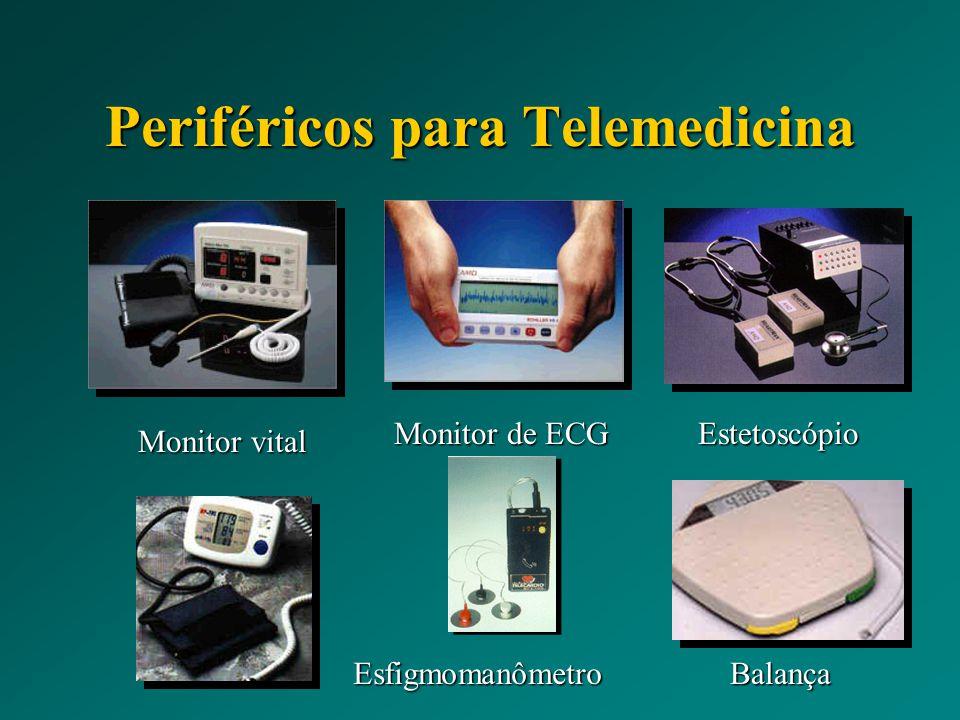 Periféricos para Telemedicina Monitor vital Monitor de ECG Estetoscópio BalançaEsfigmomanômetro