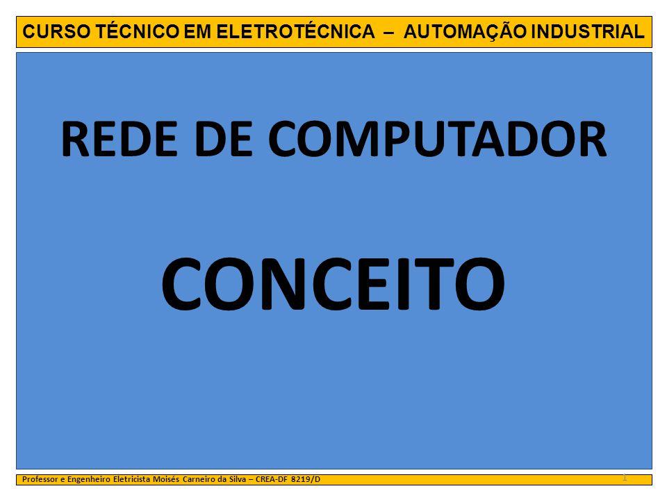 CURSO TÉCNICO EM ELETROTÉCNICA – AUTOMAÇÃO INDUSTRIAL REDE DE COMPUTADOR CONCEITO Professor e Engenheiro Eletricista Moisés Carneiro da Silva – CREA-D