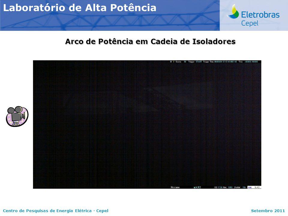 Centro de Pesquisas de Energia Elétrica - CepelSetembro 2011 Laboratório de Alta Potência Arco de Potência em Cadeia de Isoladores