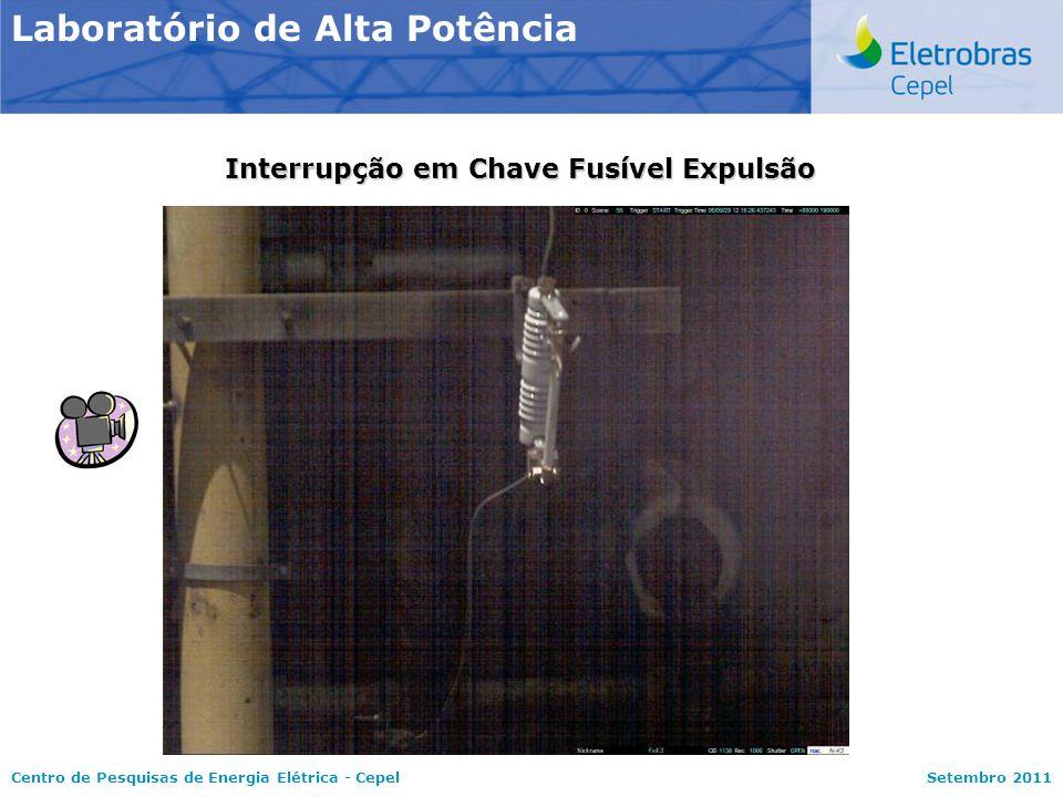 Centro de Pesquisas de Energia Elétrica - CepelSetembro 2011 Interrupção em Chave Fusível Expulsão Laboratório de Alta Potência