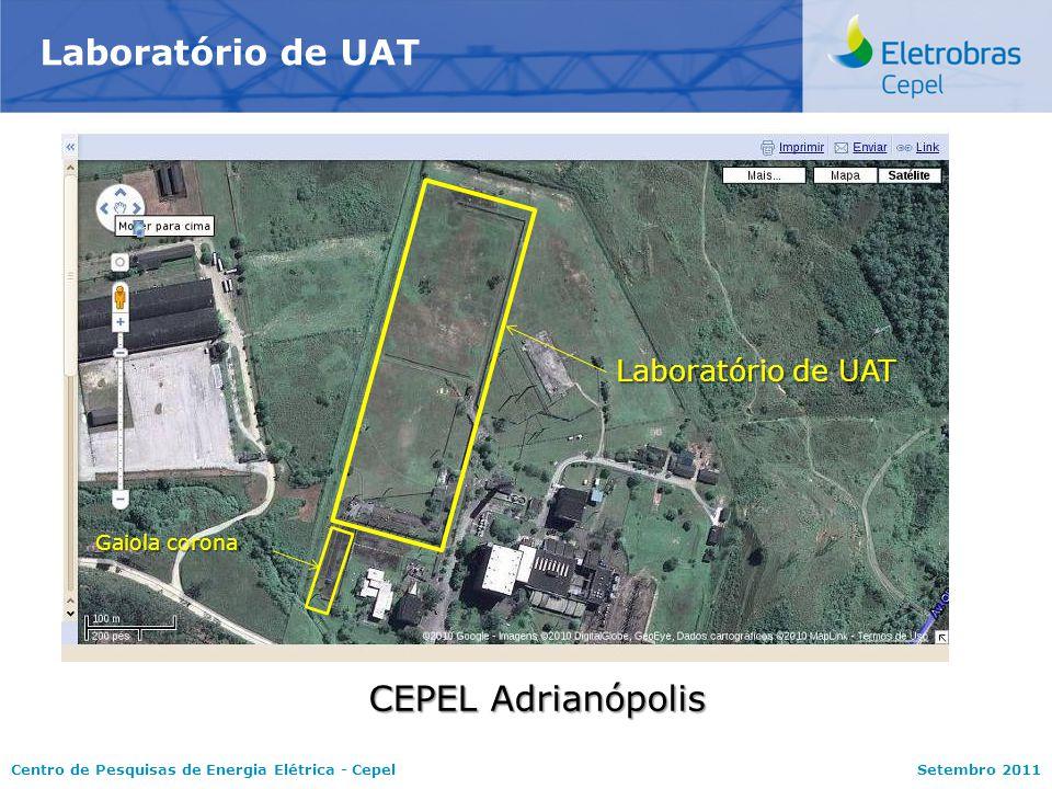 Centro de Pesquisas de Energia Elétrica - CepelSetembro 2011 Laboratório de UAT CEPEL Adrianópolis Laboratório de UAT Gaiola corona