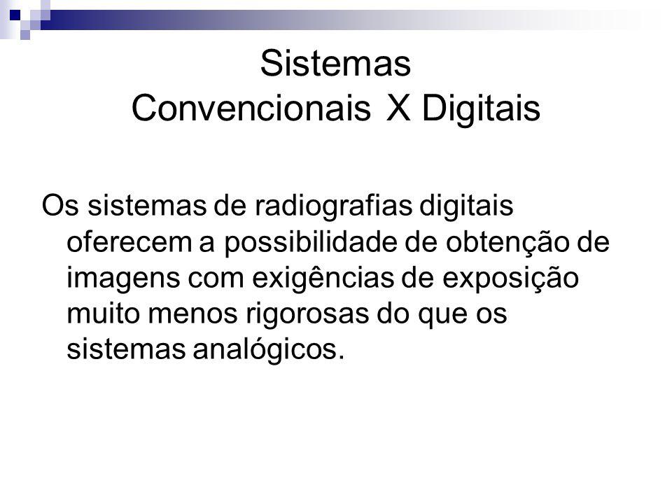 Os sistemas de radiografias digitais oferecem a possibilidade de obtenção de imagens com exigências de exposição muito menos rigorosas do que os siste