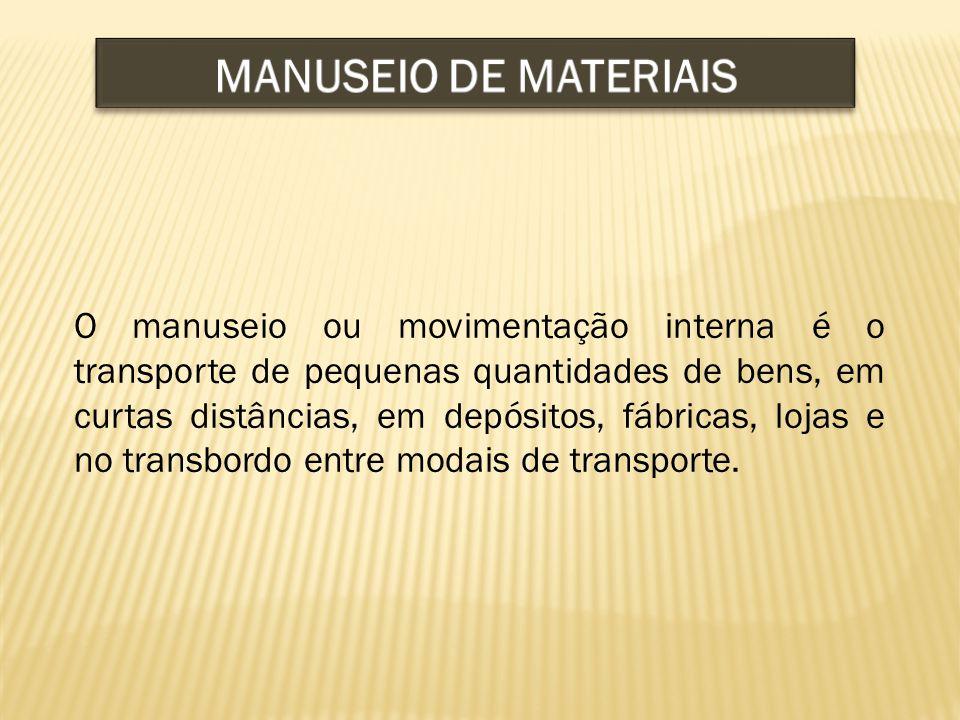 O manuseio ou movimentação interna é o transporte de pequenas quantidades de bens, em curtas distâncias, em depósitos, fábricas, lojas e no transbordo entre modais de transporte.