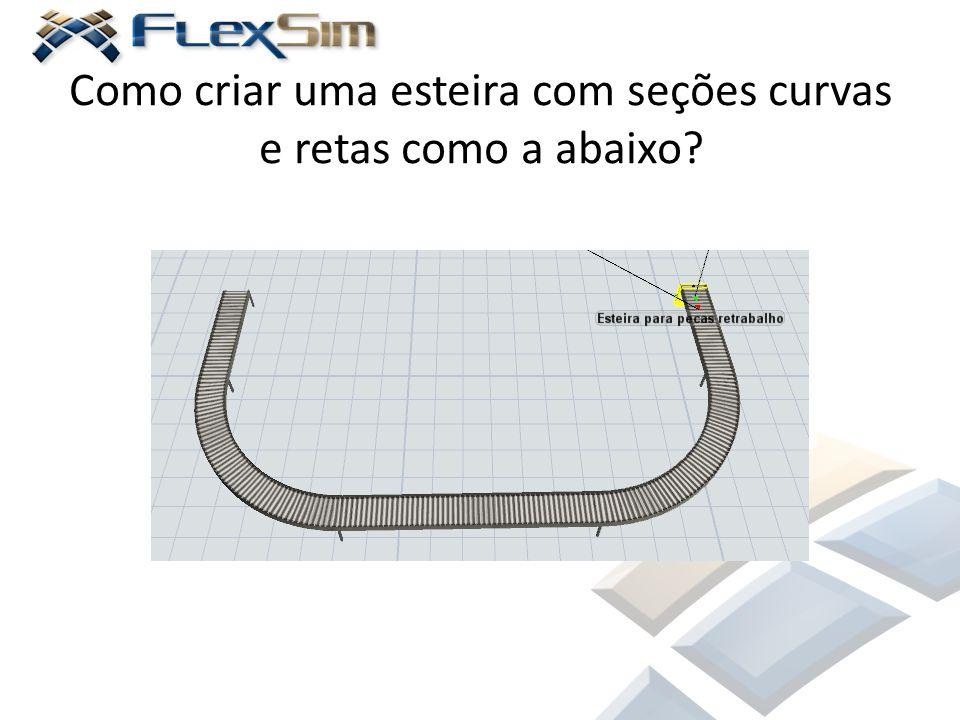 Como criar uma esteira com seções curvas e retas como a abaixo?