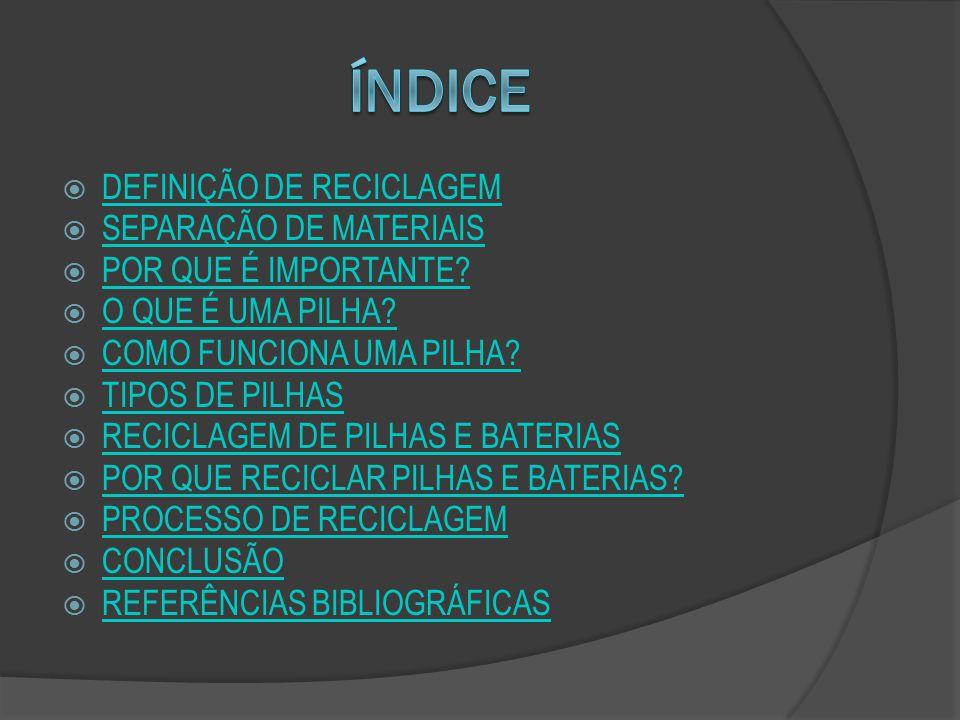 ARAGUAIA, Mariana.RECICLAGEM. Disponível em: http://www.brasilescola.com/biologia/reciclagem.htm.