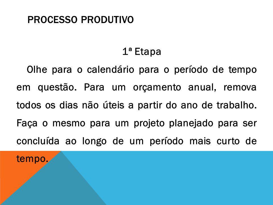 1ª Etapa Olhe para o calendário para o período de tempo em questão. Para um orçamento anual, remova todos os dias não úteis a partir do ano de trabalh