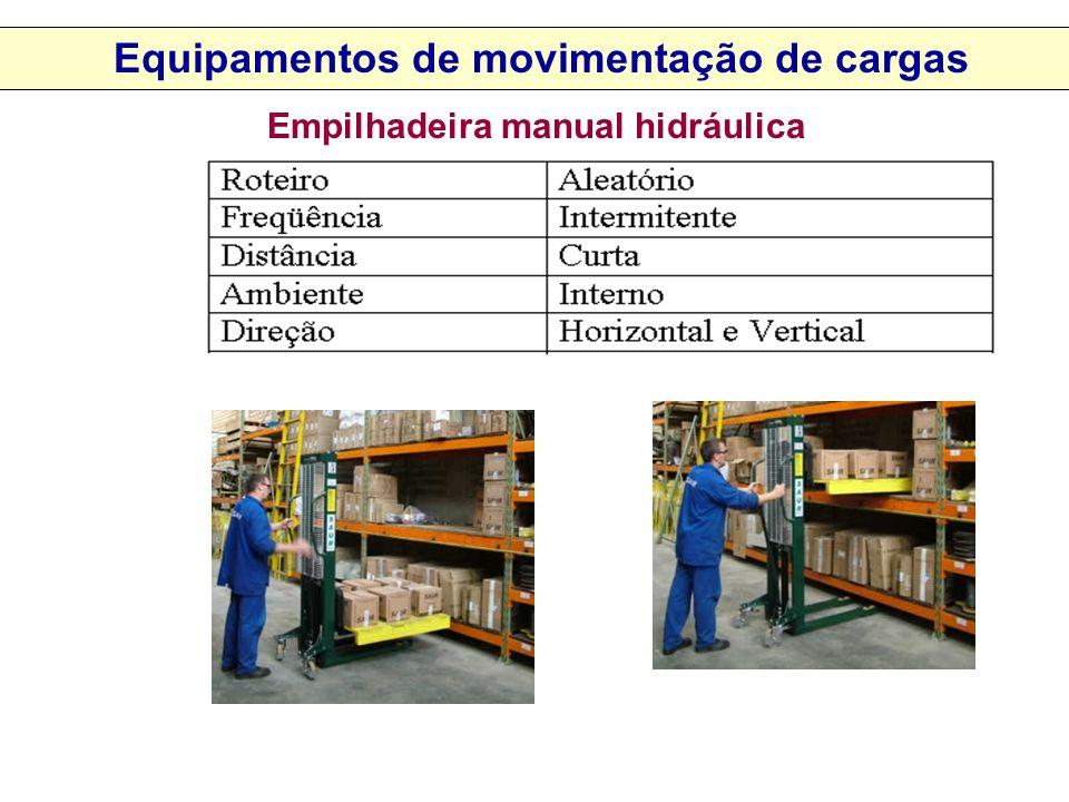 Empilhadeira manual hidráulica Equipamentos de movimentação de cargas