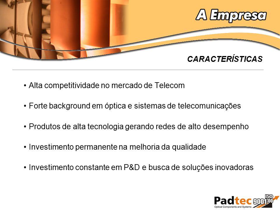 Alta competitividade no mercado de Telecom Forte background em óptica e sistemas de telecomunicações Produtos de alta tecnologia gerando redes de alto