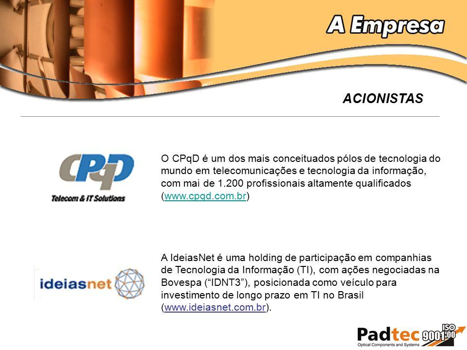 O CPqD é um dos mais conceituados pólos de tecnologia do mundo em telecomunicações e tecnologia da informação, com mai de 1.200 profissionais altament