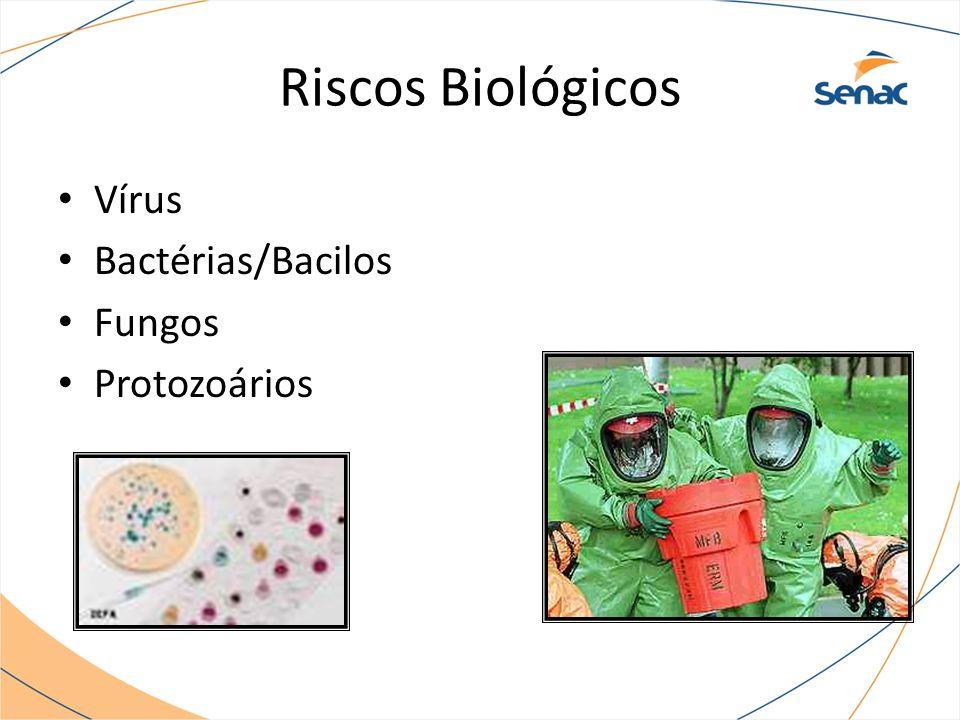 Riscos Biológicos Vírus Bactérias/Bacilos Fungos Protozoários