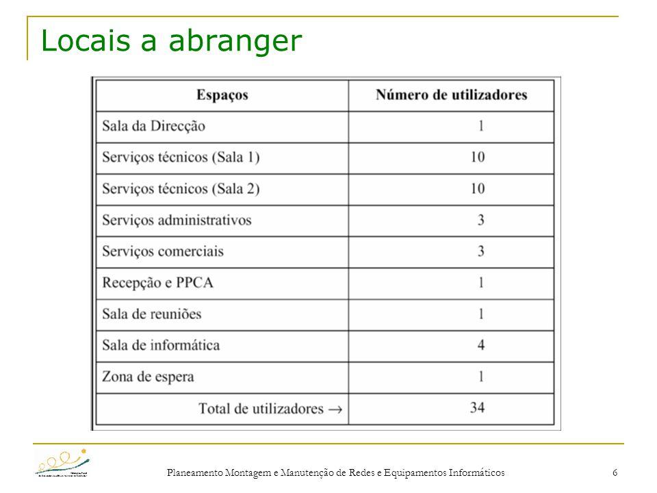 Planeamento Montagem e Manutenção de Redes e Equipamentos Informáticos 17 Anexo A – Medições – eq.