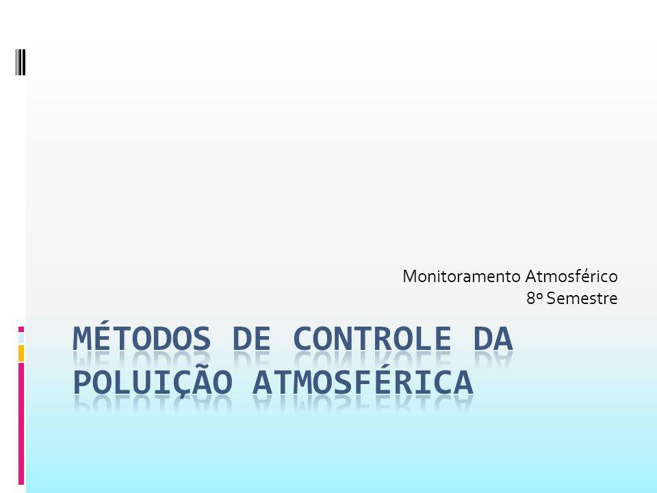 Métodos de controle De acordo com DE NEVERS (1995) e SEINFELD (1995), o processo de poluição do ar se resume a três momentos:  Emissão de poluentes para a atmosfera;  Transporte, diluição e modificação química ou física dos poluentes na atmosfera;  Imissão dos poluentes.
