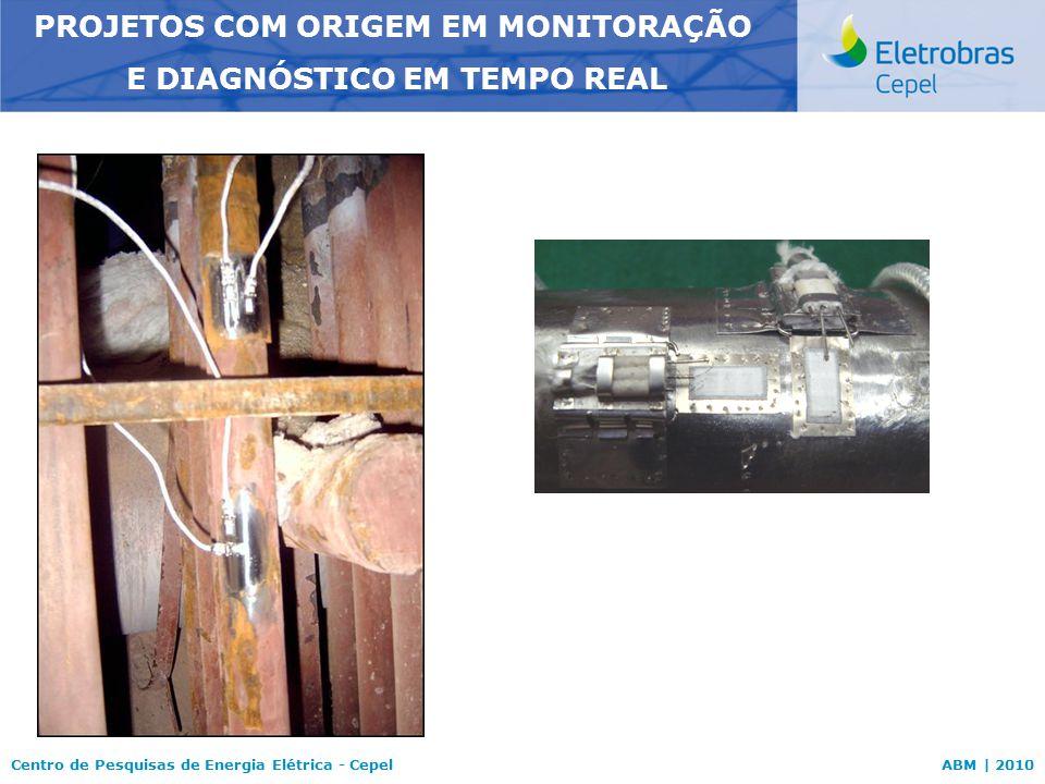 Centro de Pesquisas de Energia Elétrica - CepelABM | 2010 PROJETOS COM ORIGEM EM MONITORAÇÃO E DIAGNÓSTICO EM TEMPO REAL