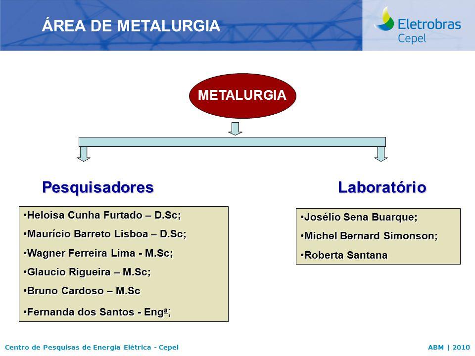 Centro de Pesquisas de Energia Elétrica - CepelABM | 2010 Heloisa Cunha Furtado – D.Sc;Heloisa Cunha Furtado – D.Sc; Maurício Barreto Lisboa – D.Sc;Ma