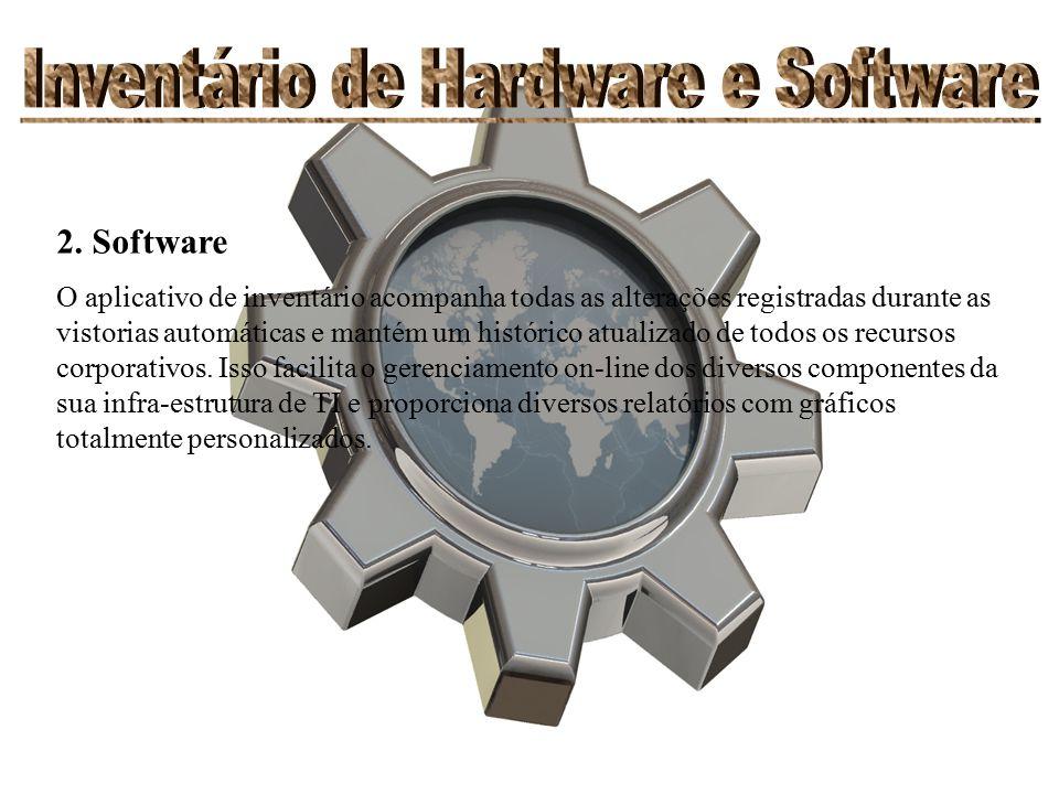2. Software O aplicativo de inventário acompanha todas as alterações registradas durante as vistorias automáticas e mantém um histórico atualizado de