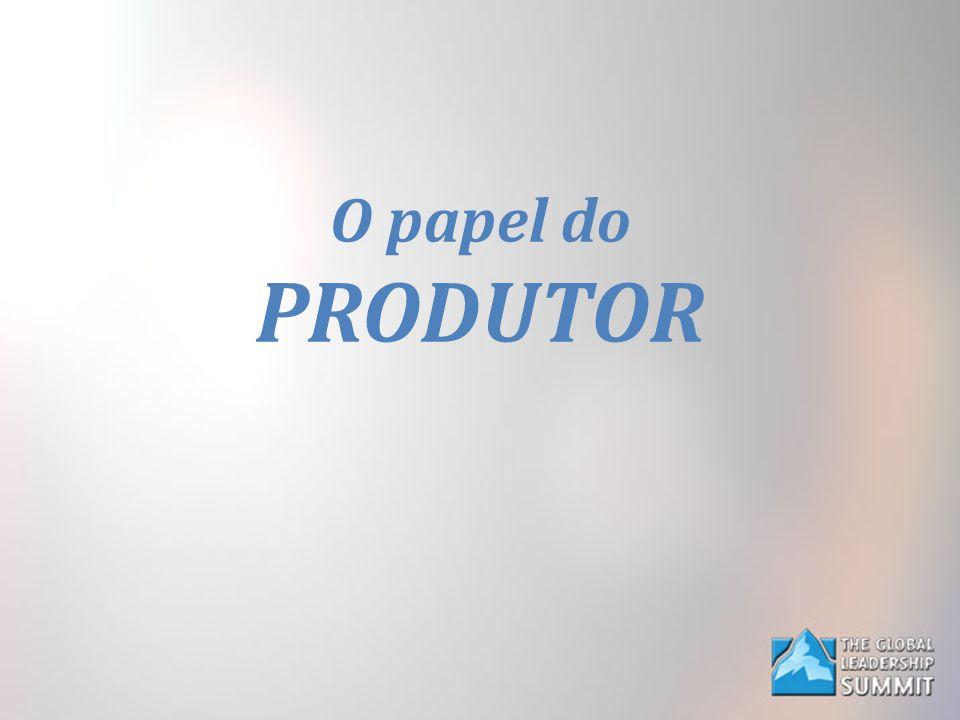 O papel do PRODUTOR