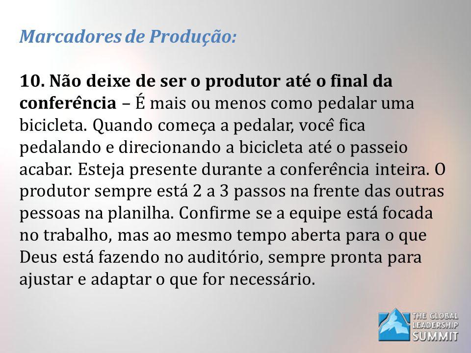 Marcadores de Produção: 10.