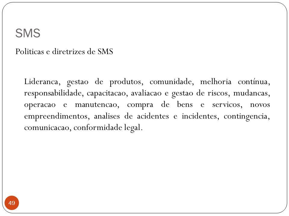 SMS 49 Politicas e diretrizes de SMS Lideranca, gestao de produtos, comunidade, melhoria contínua, responsabilidade, capacitacao, avaliacao e gestao d