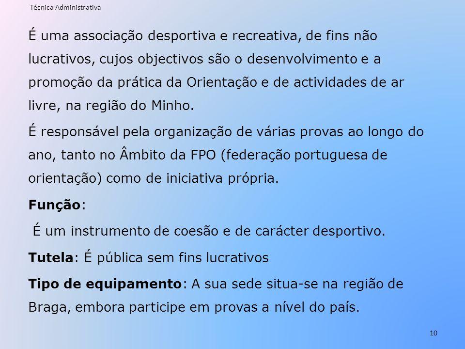É uma associação desportiva e recreativa, de fins não lucrativos, cujos objectivos são o desenvolvimento e a promoção da prática da Orientação e de ac