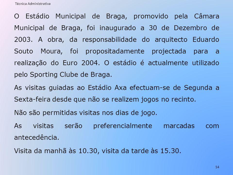 O Estádio Municipal de Braga, promovido pela Câmara Municipal de Braga, foi inaugurado a 30 de Dezembro de 2003. A obra, da responsabilidade do arquit