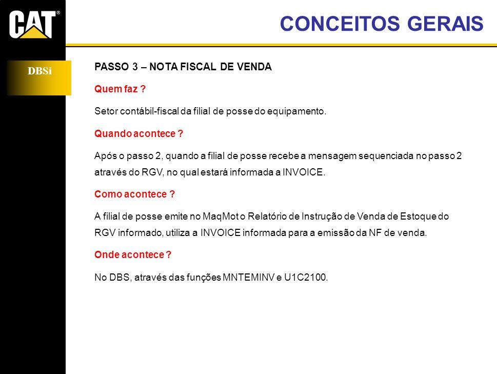 DBSi PASSO 3 – NOTA FISCAL DE VENDA Quem faz .