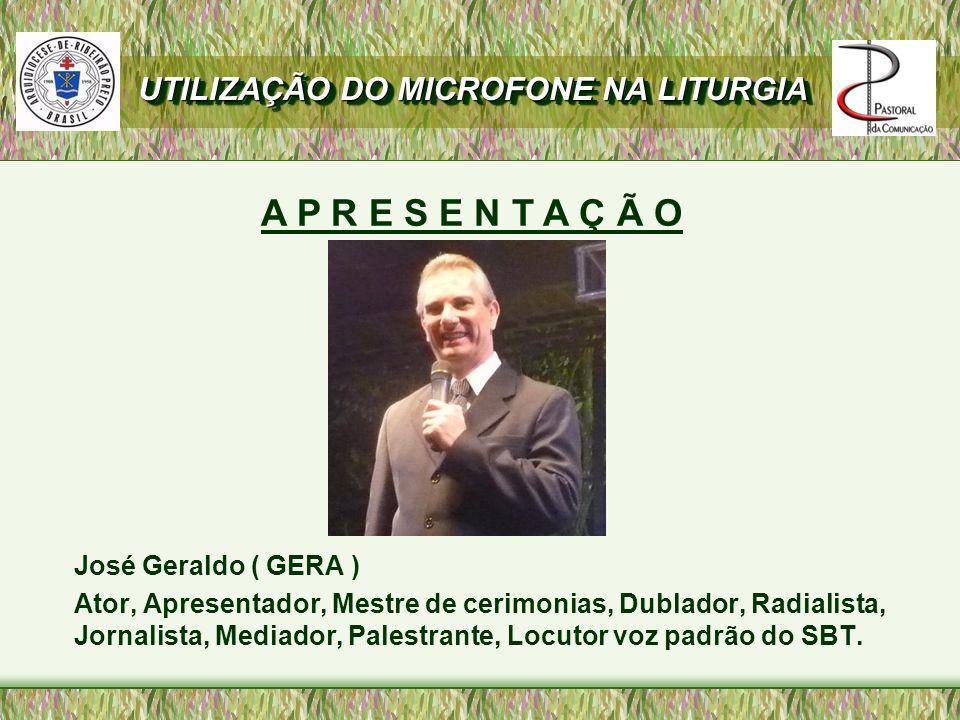José Geraldo ( GERA ) Ator, Apresentador, Mestre de cerimonias, Dublador, Radialista, Jornalista, Mediador, Palestrante, Locutor voz padrão do SBT.