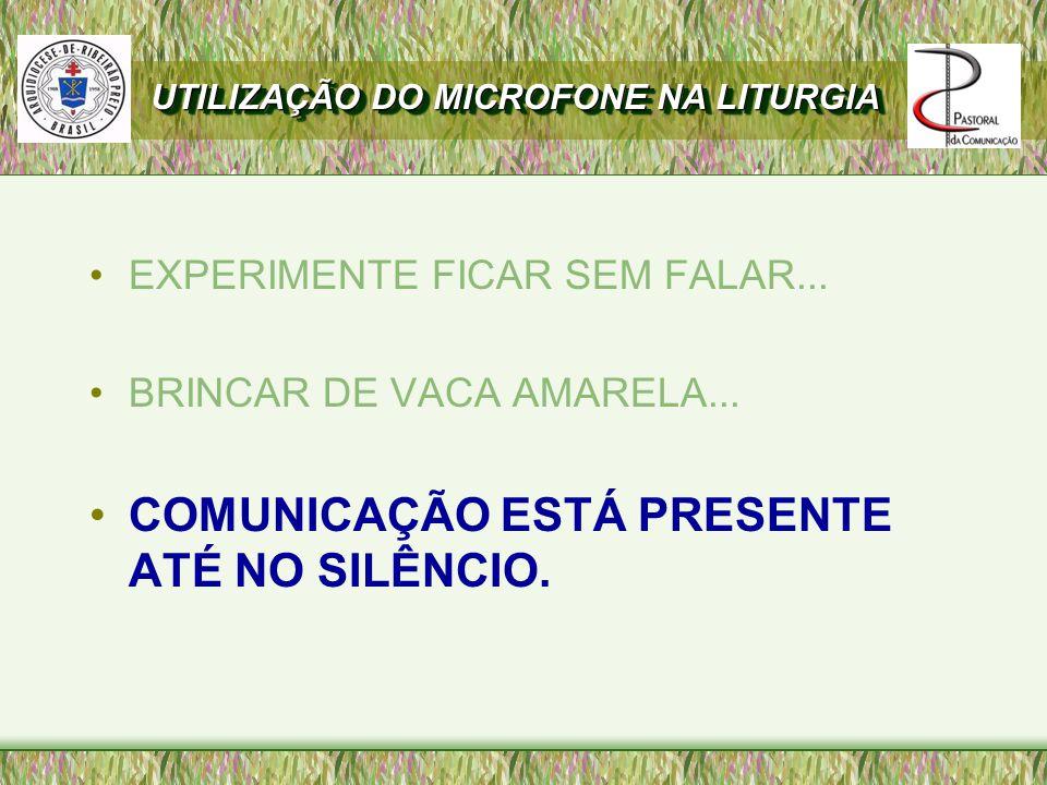 AS IRMÃS GÊMEAS COMUNICAÇÃO E IN-COMUNICAÇÃO UTILIZAÇÃO DO MICROFONE NA LITURGIA