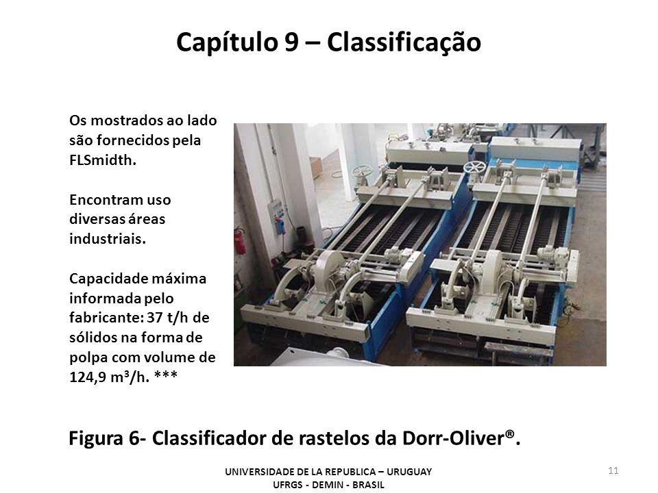 Capítulo 9 – Classificação UNIVERSIDADE DE LA REPUBLICA – URUGUAY UFRGS - DEMIN - BRASIL 11 Figura 6- Classificador de rastelos da Dorr-Oliver®.