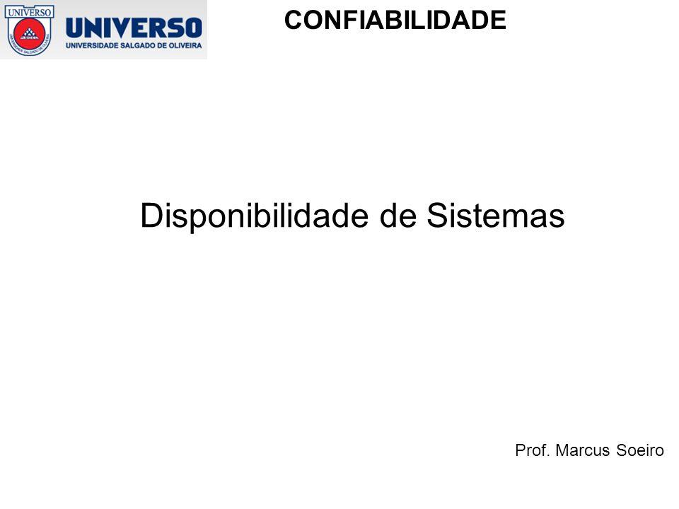 Prof. Marcus Soeiro CONFIABILIDADE COMPONENTES SUJEITOS A MUDANÇAS DE ESTADO REVERSÍVEIS