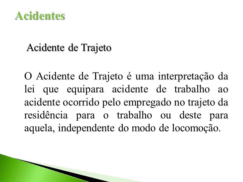 Acidente de Trajeto Acidente de Trajeto O Acidente de Trajeto é uma interpretação da lei que equipara acidente de trabalho ao acidente ocorrido pelo empregado no trajeto da residência para o trabalho ou deste para aquela, independente do modo de locomoção.