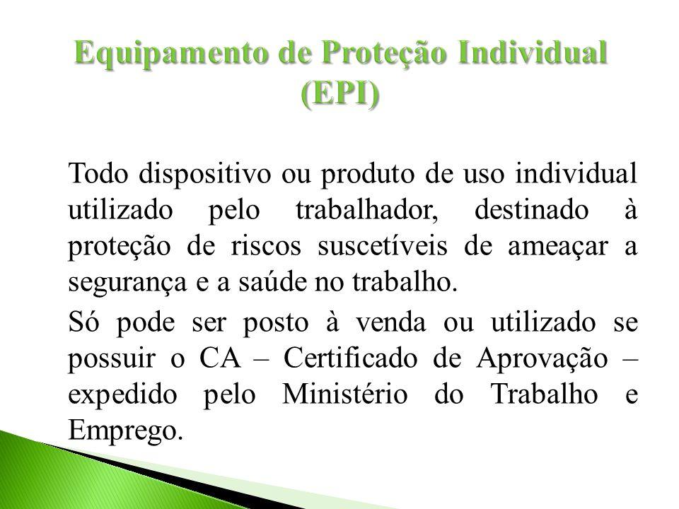Todo dispositivo ou produto de uso individual utilizado pelo trabalhador, destinado à proteção de riscos suscetíveis de ameaçar a segurança e a saúde no trabalho.
