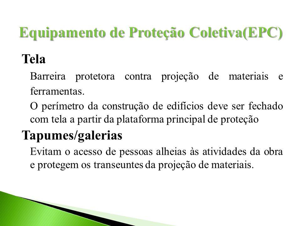 Tela Barreira protetora contra projeção de materiais e ferramentas.