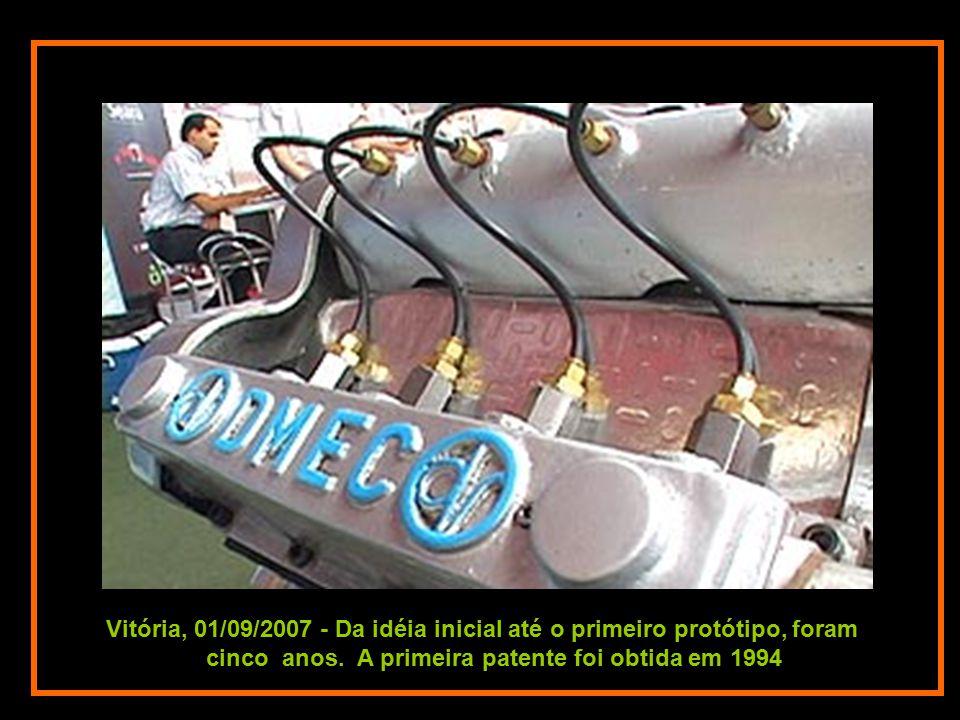 O ar comprimido no cilindro serve para dar a partida no motor, que tem a capacidade de devolver ao cilindro 75% do ar consumido