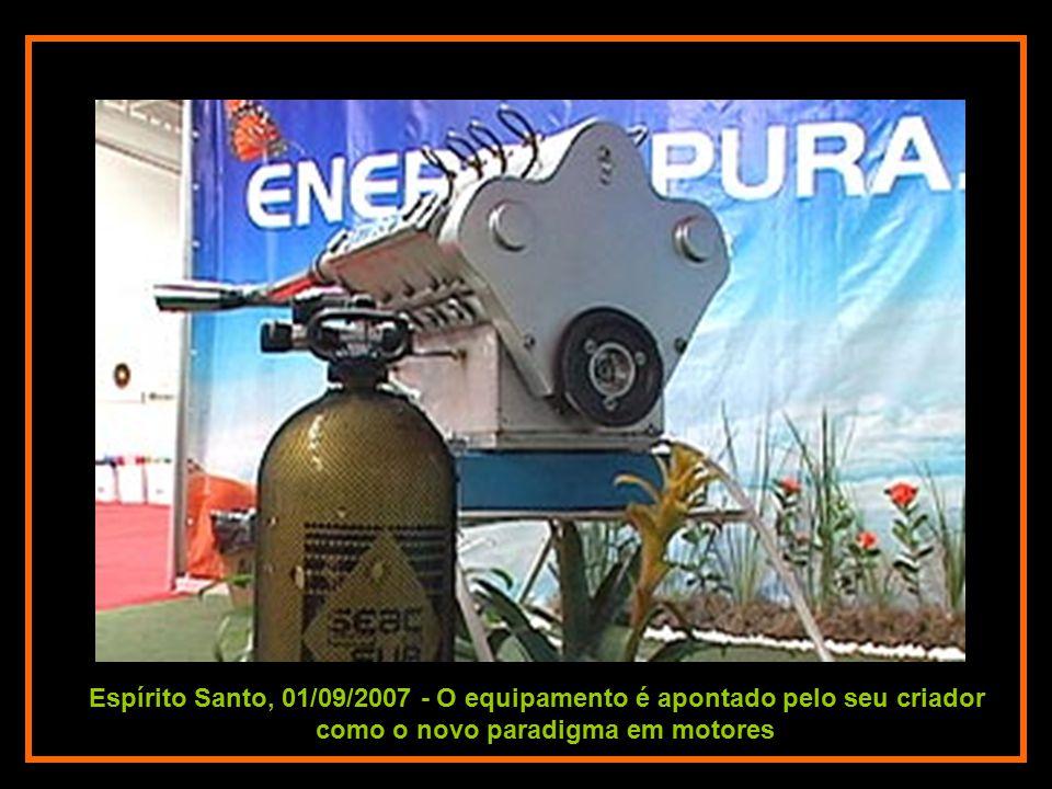 Vitória, 01/09/2007 - O Professor Pardal Antônio Dariva, criador do motor que não necessita de combustíveis e é capaz de se auto-abastecer.
