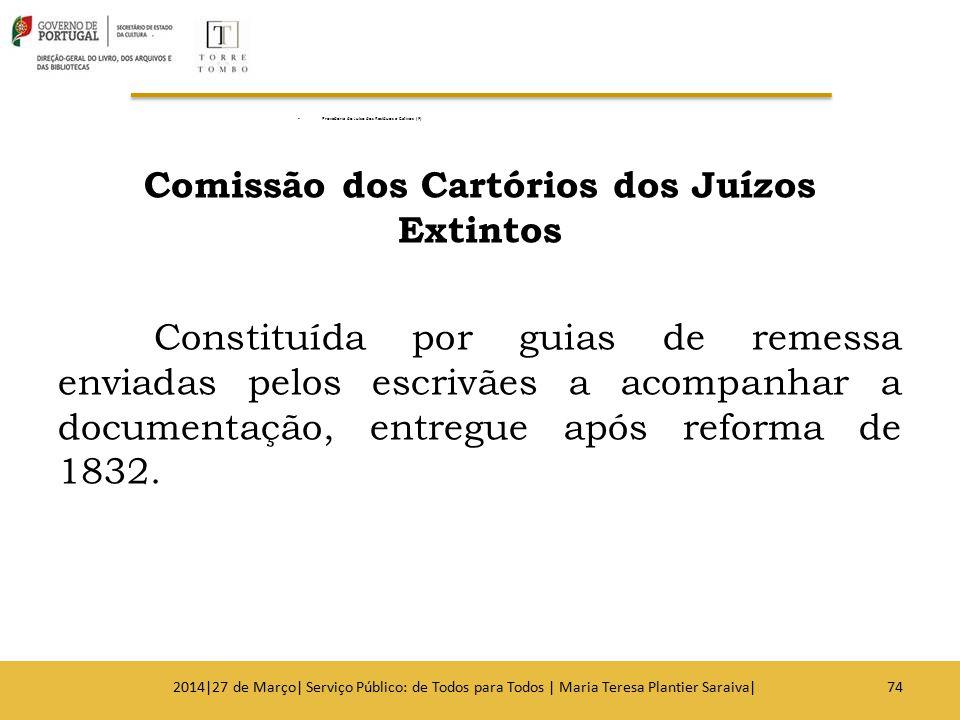 Provedoria do Juízo dos Resíduos e Cativos (F) Comissão dos Cartórios dos Juízos Extintos Constituída por guias de remessa enviadas pelos escrivães a