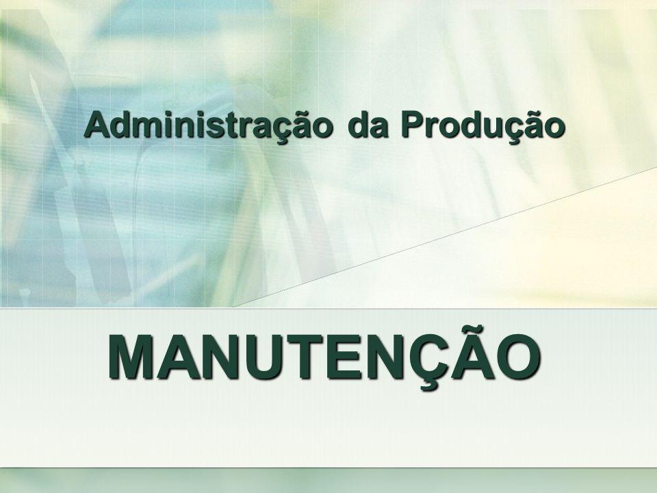 MANUTENÇÃO Administração da Produção
